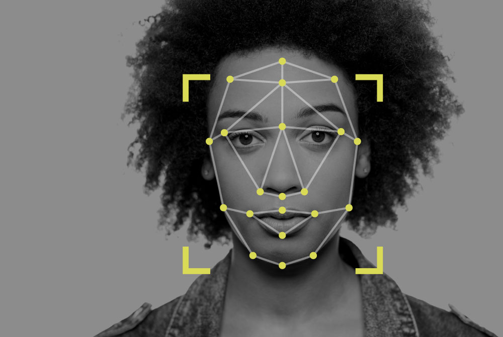 facial recognition nodal points on a face