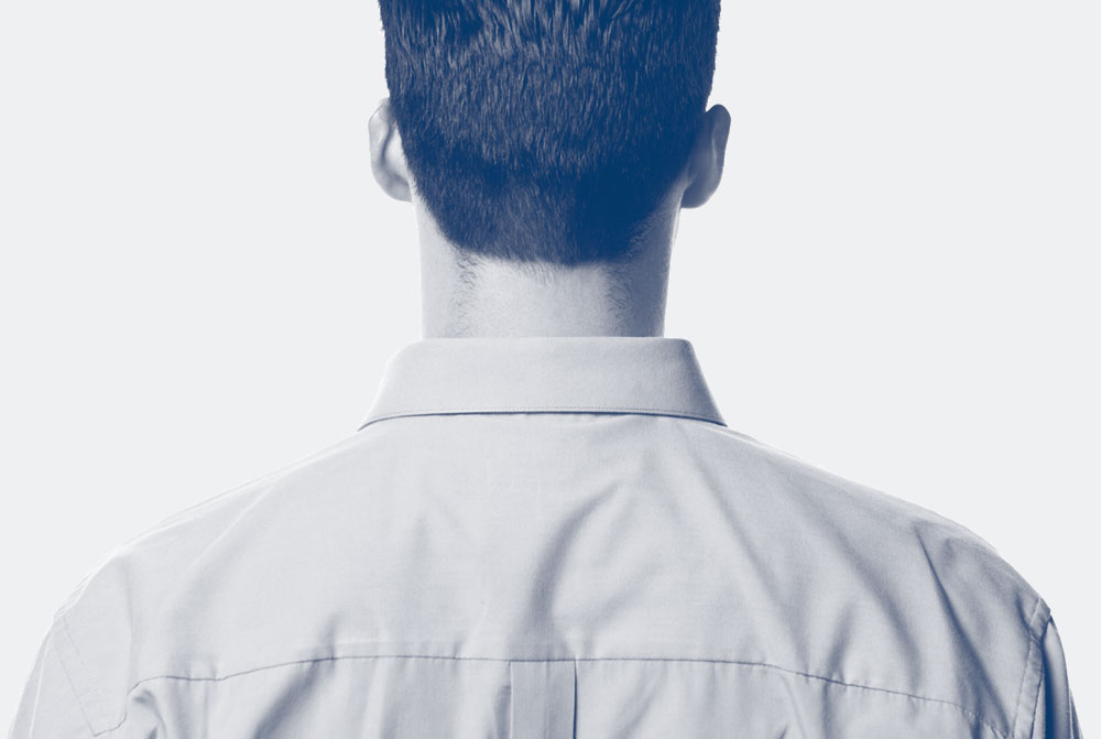 back of a man's head